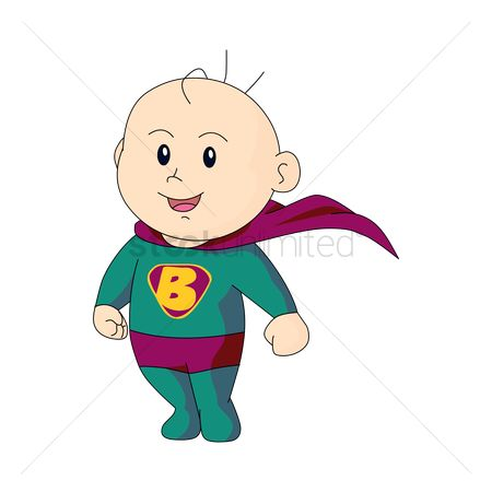 Kids : Baby in superman dress