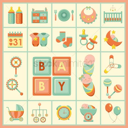 Plates : Baby products icons