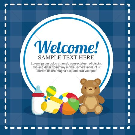 Teddybear : Baby shower card