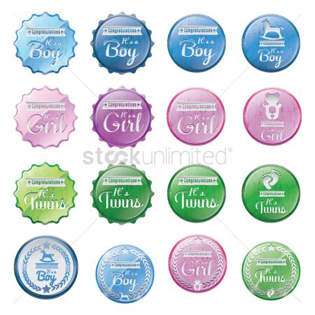 Compliment : Baby shower icon set
