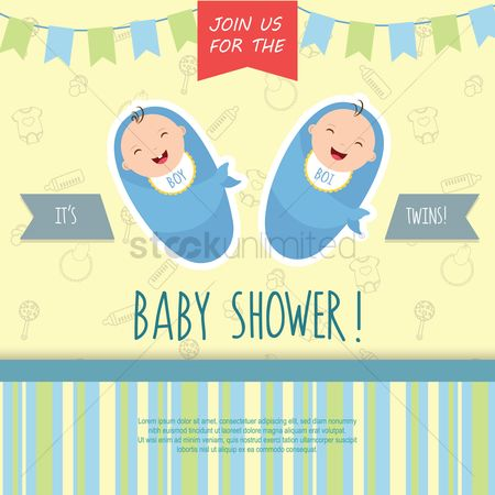 Sack : Baby shower invitation