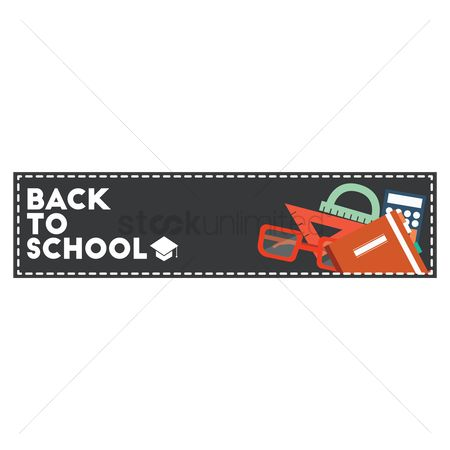 Educational banner : Back to school banner