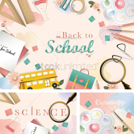 Magnifying : Back to school design