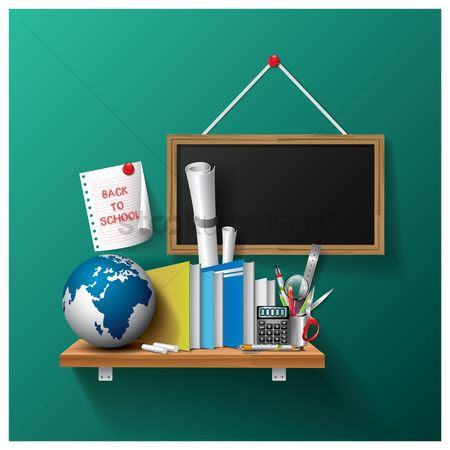 Blackboard : Back to school design