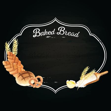 Flour : Baked bread design