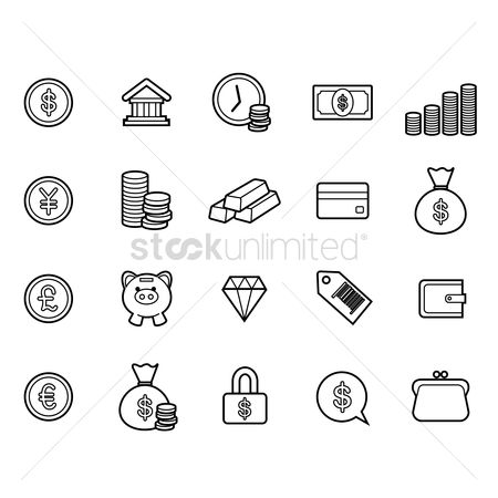 Currencies : Banking icons