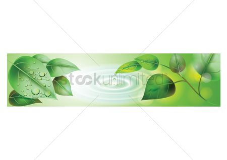 Water drops : Banner design