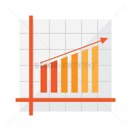 Increase : Bar graph with arrow