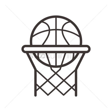 Indoor : Basketball and hoop net