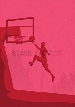Indoor : Basketball concept