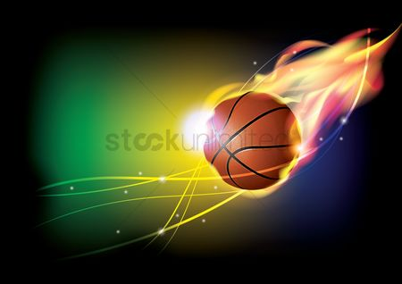 Sports : Basketball theme wallpaper