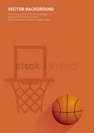 Indoor : Basketball vector background