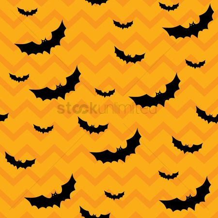 Zig zag : Bats pattern background