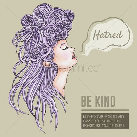 Head : Be kind motivational quote
