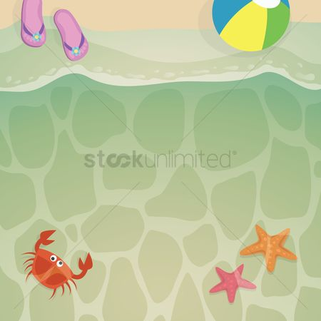 Crabs : Beach background