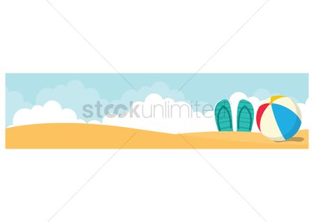 Slippers : Beach banner