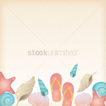 Footwear : Beach themed background