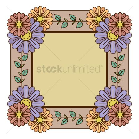 Copyspaces : Beautiful floral frame