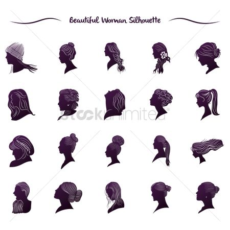 Styles : Beautiful woman silhouette