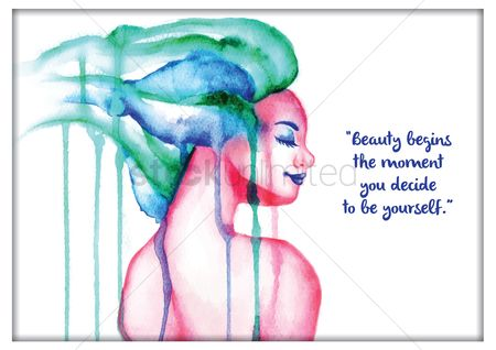 Lady : Beauty motivational quote