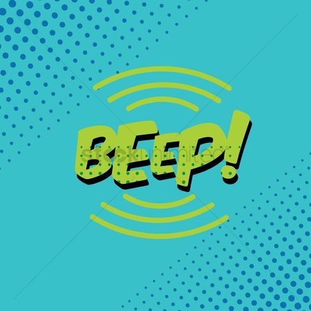 Pop : Beep comic speech bubble