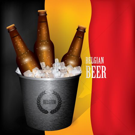 Belgium : Beer bottles in an ice bucket