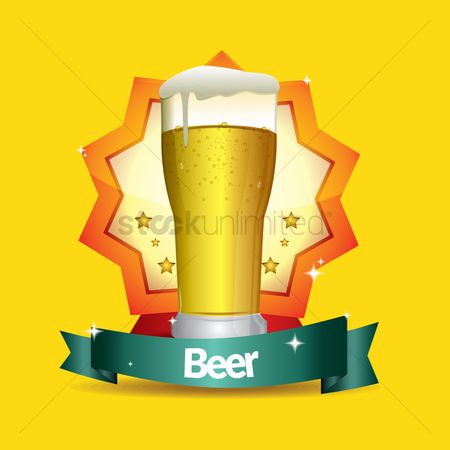 Beer : Beer glass sticker