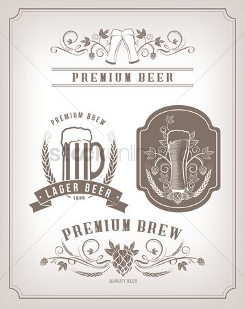 Beer mug : Beer labels