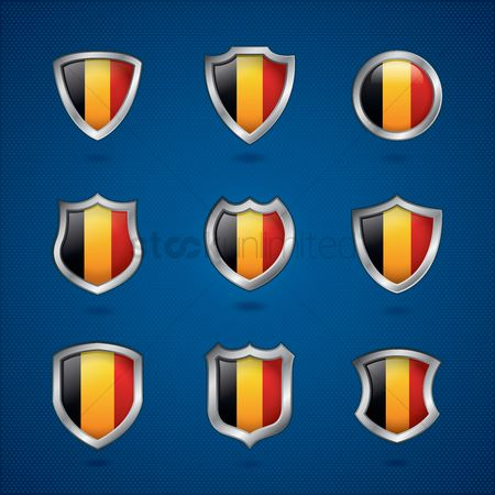 Belgium : Belgium flag icon collection