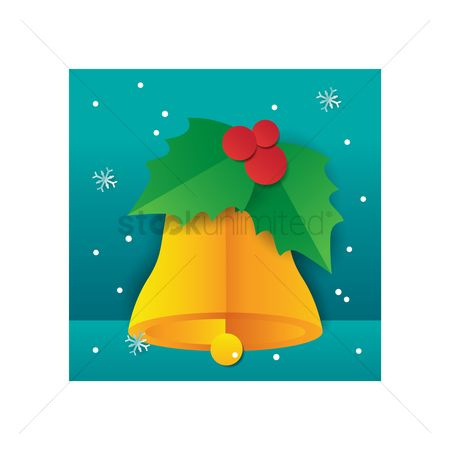 Jingle bells : Bell with mistletoe