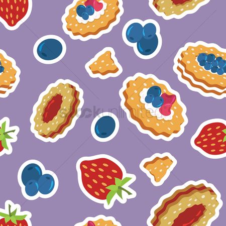 Biscuit : Berries and biscuits pattern design