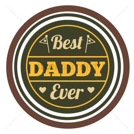 Vintage : Best daddy ever label