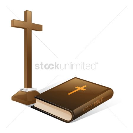 Christian : Bible and the cross
