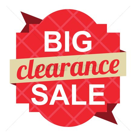 Huge : Big clearance sale label