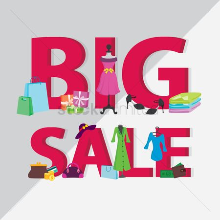 Shopping background : Big sale concept