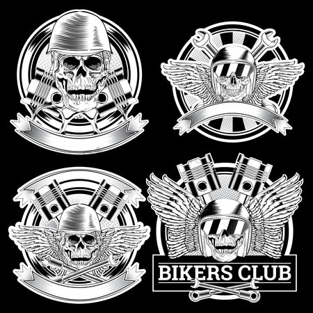 Insignia : Bikers club design set