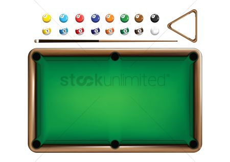 Recreation : Billiards equipment set