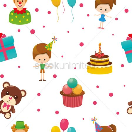 Teddybears : Birthday background