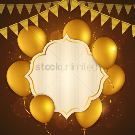 Surprise : Birthday decoration with gold concept