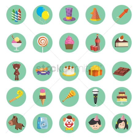 Cones : Birthday icons