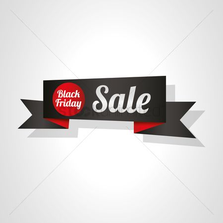 Commercials : Black friday sale ribbon