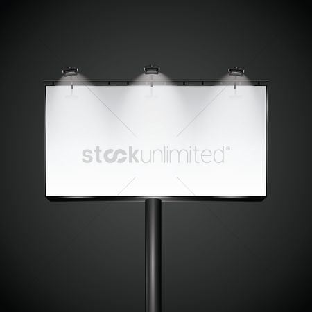 Signages : Blank advertising billboard