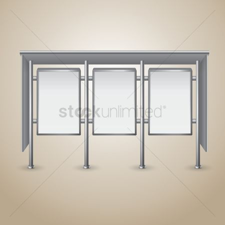 Signages : Blank bus stop billboard