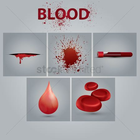 Dripping : Blood icon set
