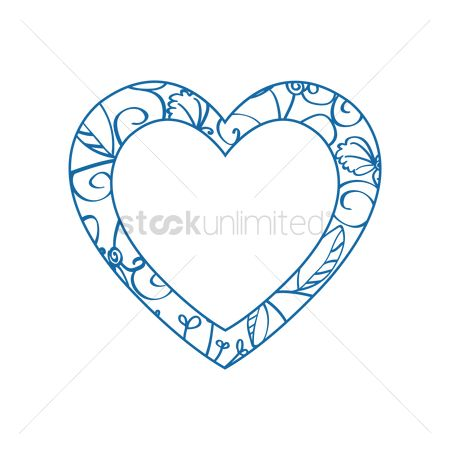 Valentines day : Blue heart frame
