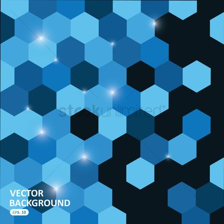 Sparkle : Blue hexagon background