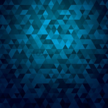 Geometrics : Blue triangles background