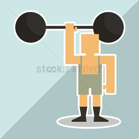 Contractor : Body builder lifting weights
