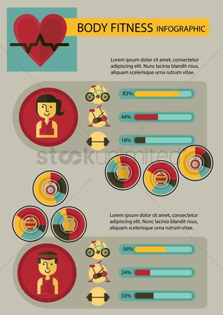 Dumb bell : Body fitness infographic