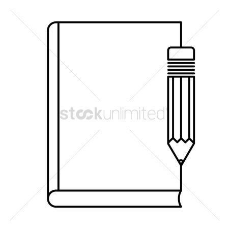 Write : Book with pen icon